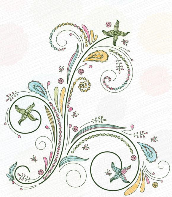 Smashing Vector Vector Illustration: Doodles Floral Background Vector Illustration Illustration 5