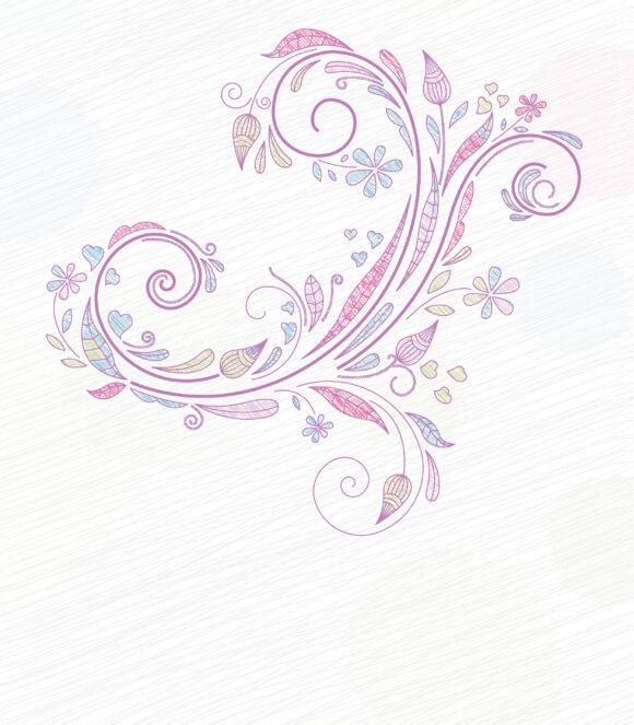 Doodles, Floral, Background Vector Doodles Floral Background Vector Illustration 5