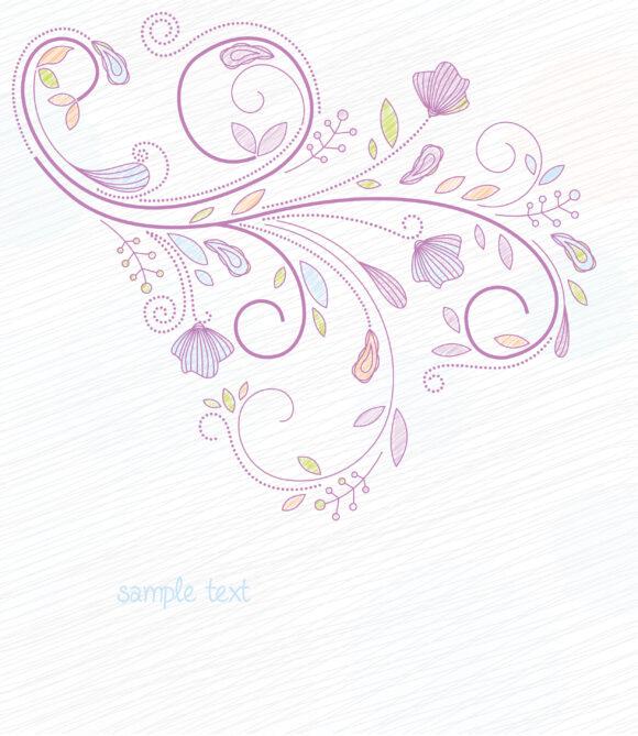 Buy Doodles Vector Image: Doodles Floral Background Vector Image Illustration 11 01 2010 21