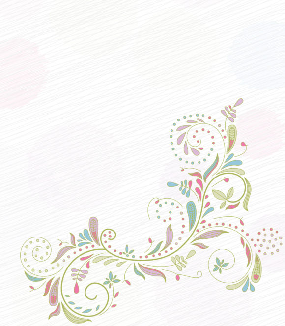 Unique Illustration Vector Design: Doodles Floral Background Vector Design Illustration 5