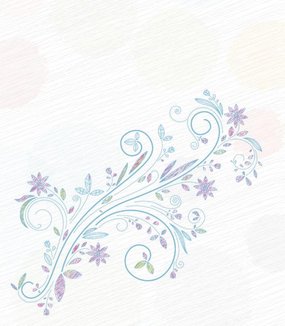 Vector Vector Design: Doodles Floral Background Vector Design Illustration 11 01 2010 24