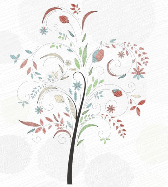 Doodles Background With Colorful Tree Vector Illustration 11 01 2010 6