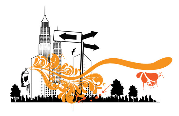 Urban Background With Spray Can Vector Illustration 11 02 2011 68