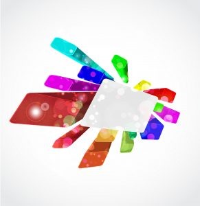 Vector 3d Colorful Background Vector Illustrations vector