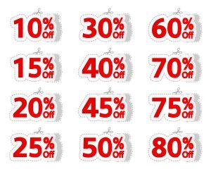 Vector Discount Labels Set Vector Illustrations vector