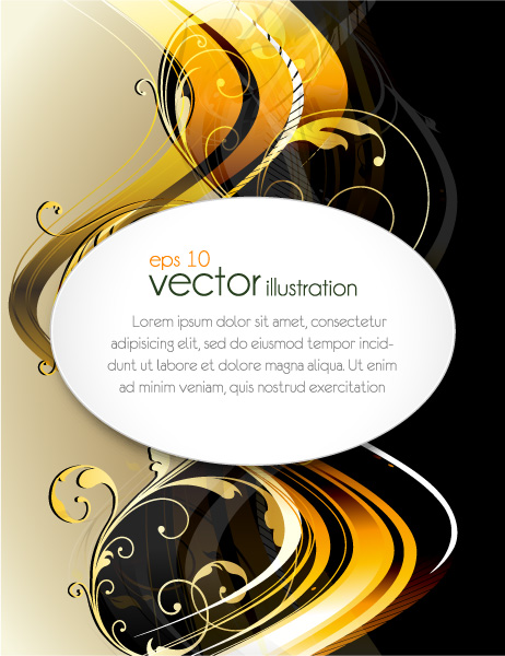 Striking Vector Vector Graphic: Vector Graphic Abstract Floral Background 5