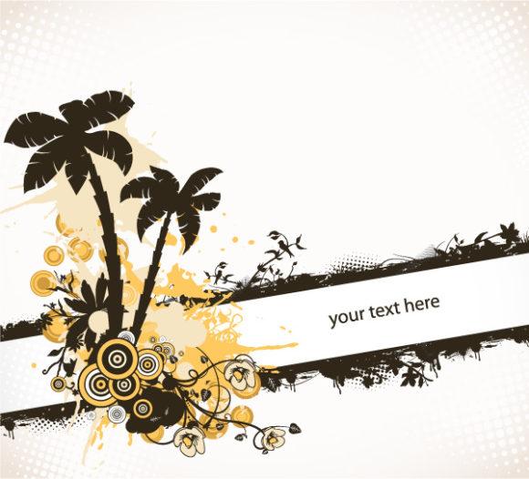 Tree Eps Vector: Grunge Summer Background Eps Vector Illustration 11 05 2011 56