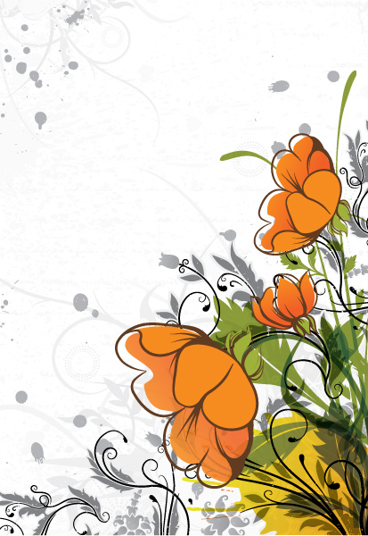 Floral Vector Vector Colorful Floral Background 5