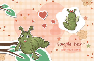 Worms In Love Vector Illustration Vector Illustrations vector