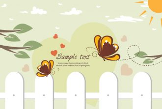 Butterflies In Love Vector Illustration Vector Illustrations leaf