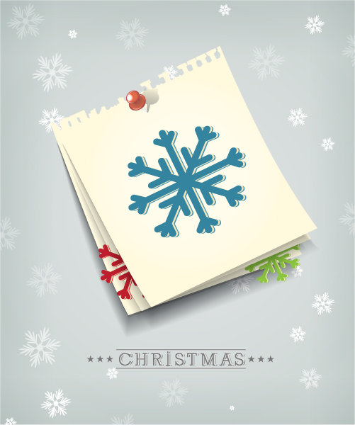 Paper, Vector, With, Christmas, Sheets Eps Vector Christmas Vector Illustration With Paper Sheets And Snowflake 11 12 2012 103