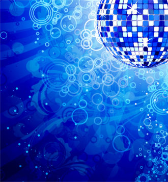 Vector Music Background With Discoball Vector Illustrations floral