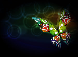 Vector Butterfly With Bokeh Background Vector Illustrations floral