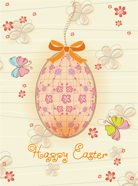 Egg With Butterflies Vector Illustration 11 1 2012 103
