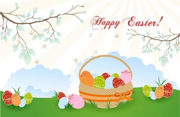 Basket Of Eggs Vector Illustration 11 1 2012 105