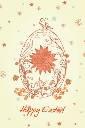 Egg With Floral Vector Illustration Vector Illustrations star