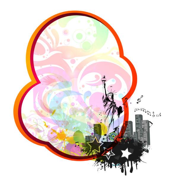 Grunge Urban Frame  Vector Illustration 11 22 2010 16