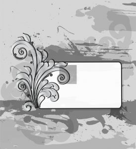 Vector Grunge Background With Floral Vector Illustrations old