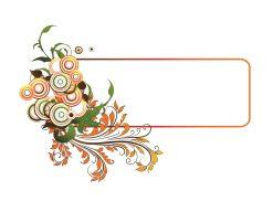 Vector Colorful Floral Frame Vector Illustrations floral