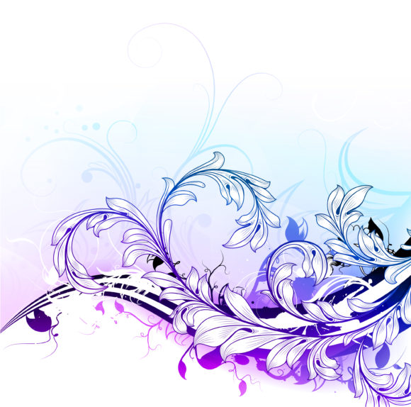 Floral-3, Colorful, Background, Floral Vector Background Vector Colorful Floral Background 1