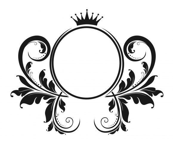 Crown, Vintage, With, Emblem Vector Art Vector Vintage Emblem With Floral 1