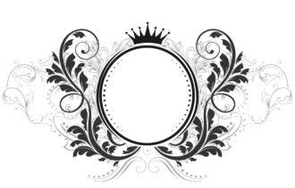 Vector Vintage Emblem With Floral Vector Illustrations old