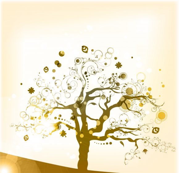 Tree Vector Vector Abstract Background  Colorful Tree 1