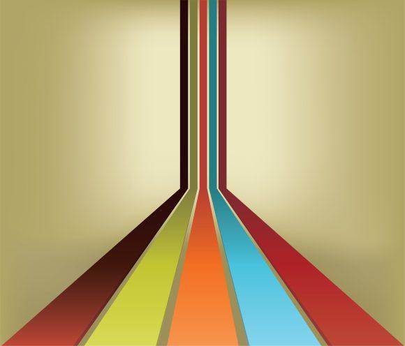 Colorful, Rainbow, Retro Vector Background Vector Retro Background  Colorful Rainbow 1