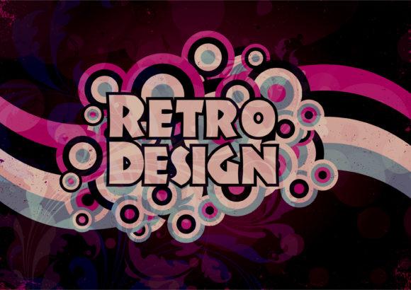 Swirl Vector Graphic Retro Grunge Background Vector Illustration 1