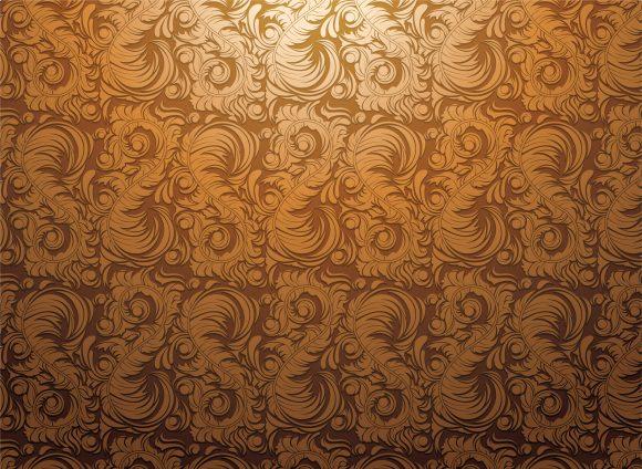 Stunning Victorian Vector Illustration: Baroque Wallpaper Vector Illustration Illustration 1