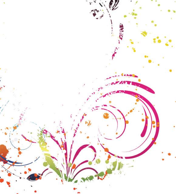 Floral Vector Design Grunge Floral Background Vector Illustration 1