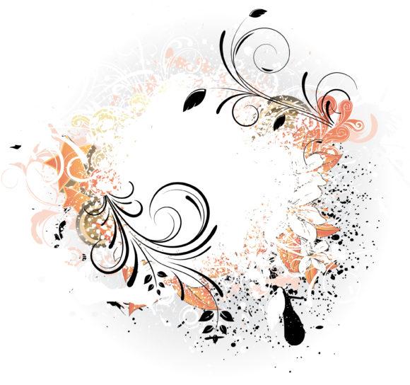 Illustration Vector Artwork Grunge Floral Background Vector Illustration 1