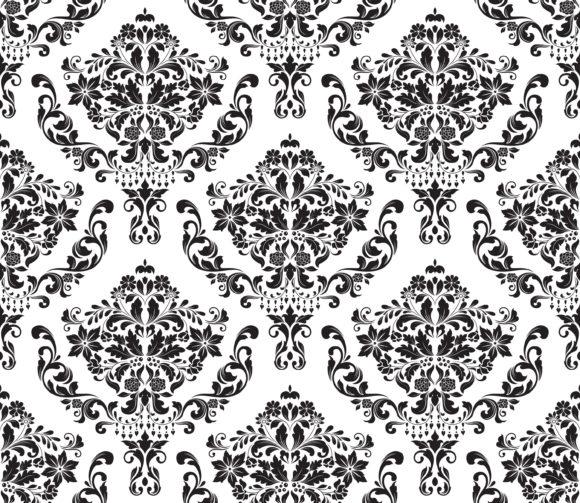New Seamless Vector Art: Vector Art Damask Seamless Background 1