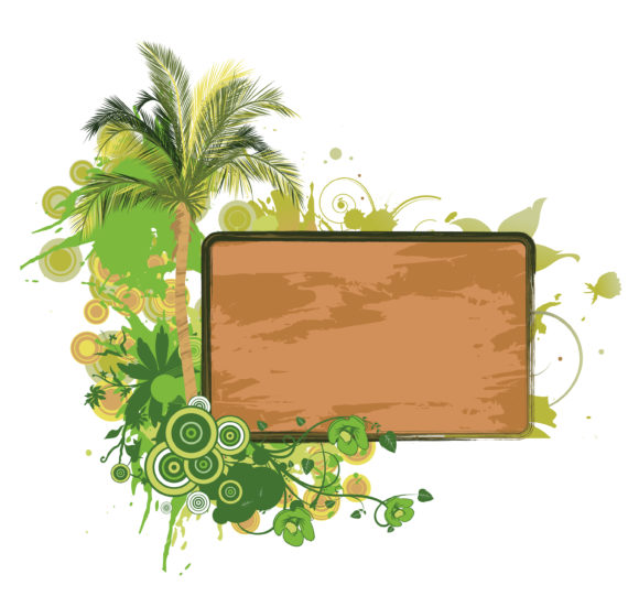 Stunning Dirty Vector Graphic: Grunge Summer Frame Vector Graphic Illustration 1
