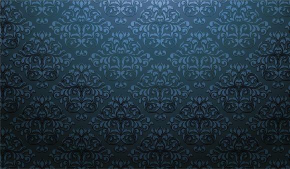 Old Vector Design: Damask Wallpaper Vector Design Illustration 1