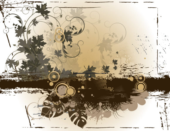 Bold Background Vector Design: Grunge Floral Background Vector Design Illustration 11 25 2010 32