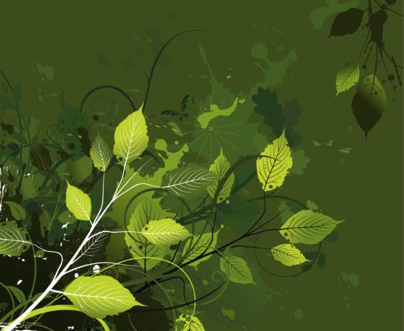 Trendy Floral Vector Design: Grunge Floral Background Vector Design Illustration 11 25 2010 35