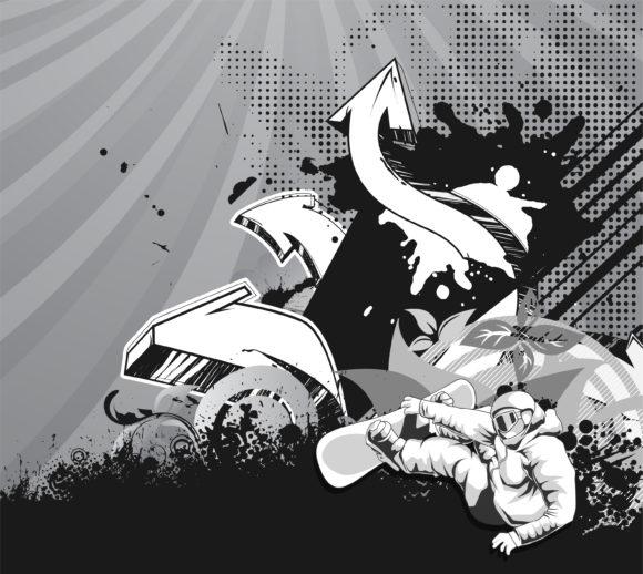 Vector, 3d Vector Background Grunge 3d Arrows Vector Illustration 1