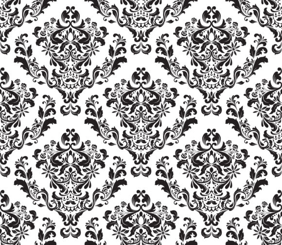 Unique Illustration Vector Artwork: Vector Artwork Damask Seamless Background 5