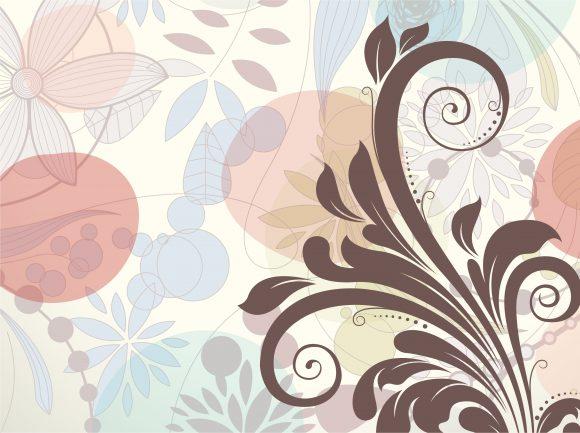 Insane Vintage-2 Vector Graphic: Vector Graphic Retro Floral Background 1