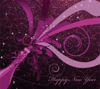 Vector New Year Background Vector Illustrations floral