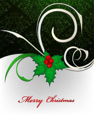 Vector Christmas Background Vector Illustrations floral