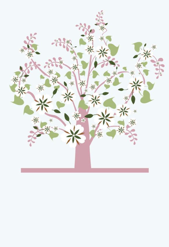 Trendy Background Vector Illustration: Vector Illustration Retro Background With Tree 5