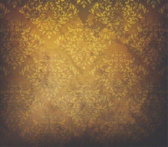 Background, Grunge Vector Artwork Grunge  Damask Background Vector Illustration 5