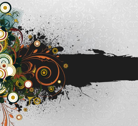 Grunge Floral Background Vector Illustration 11 30 2010 15 scaled
