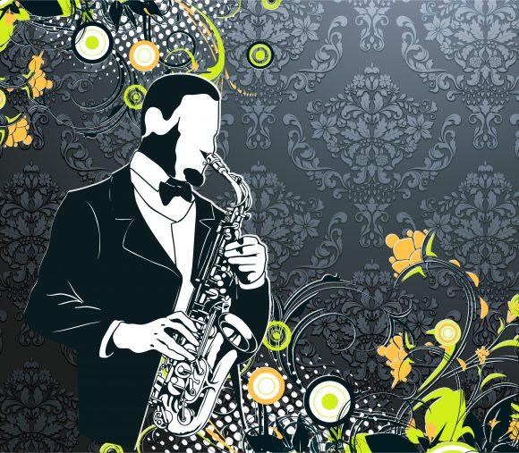 Poster Vector Background: Vector Background Vintage Concert Poster 1