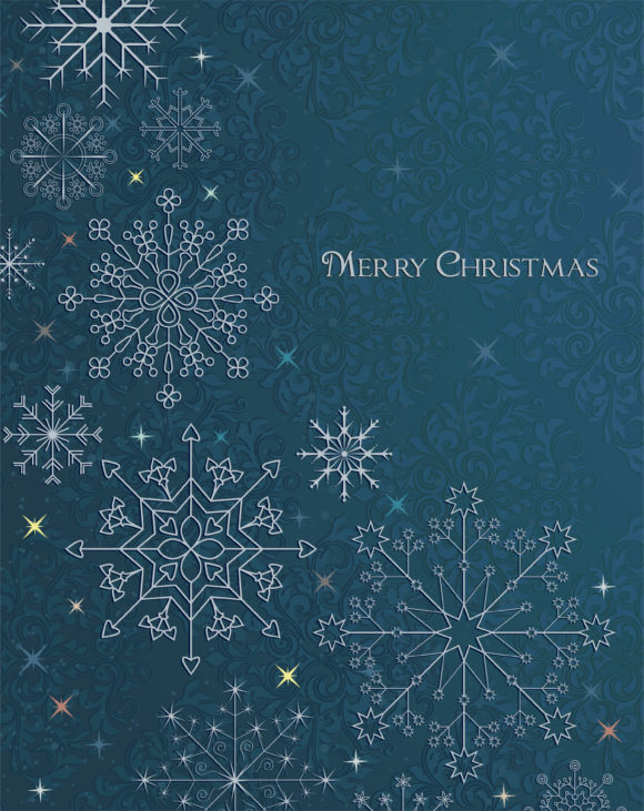 Greeting, Christmas, Winter Vector Design Vector Christmas Greeting Card 5