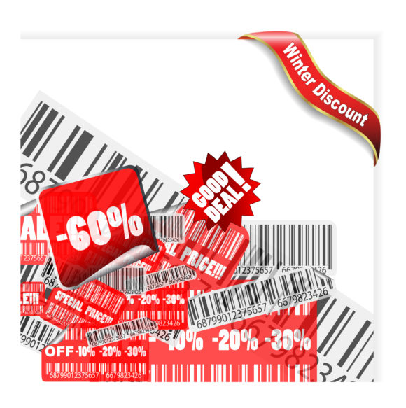 Awesome Illustration Vector: Vector Winter Discount Banner 11 30 2010 26