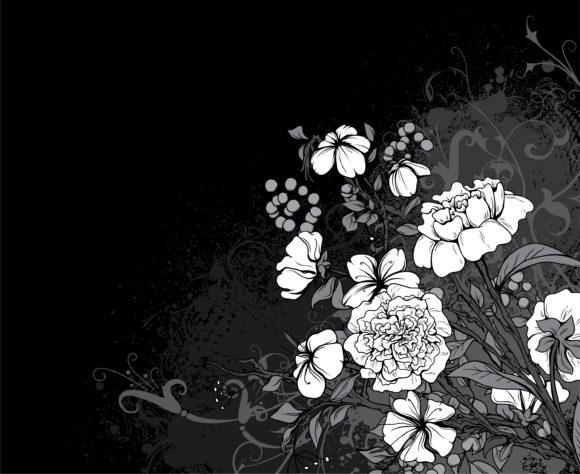 Floral, Grunge Vector Art Vintage Floral Background Vector Illustration 11 30 2010 76