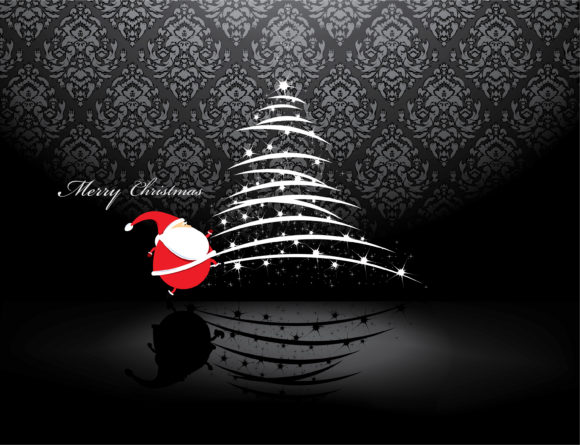 December, Christmas, Vector, Illustration Vector Image Vector Christmas Greeting Card 1